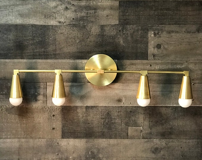 Icarus Wall Sconce 4 Bulb Cone Vanity Light Bathroom Lighting Mid Century Modern Fixture Contemporary Lighting