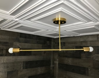 Hestia Modern 2 Bulb Chandelier Mid Century Hanging Ceiling Light