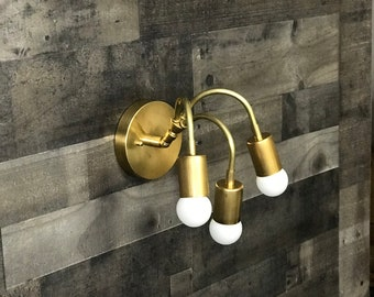 Medusa Adjustable Wall Sconce Mid Century Modern Industrial 3 Light Vanity Bathroom Light