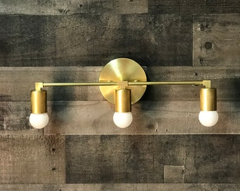 Ragnar Modern Wall Sconce Vanity 3 Light Abstract Mid Century Industrial Bathroom Light
