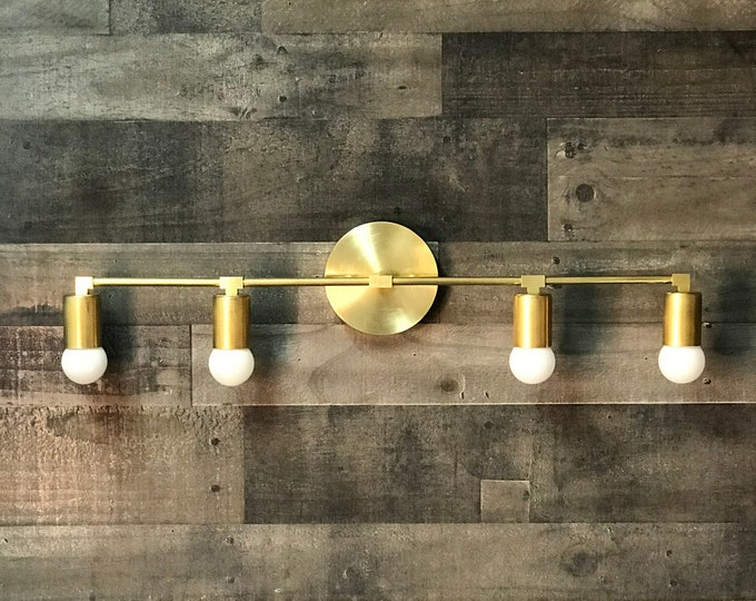 Floki Wall Sconce 4 Bulb Vanity Bathroom Lighting Mid Century Modern Contemporary Lighting