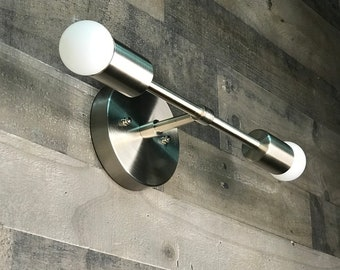 Sonder Modern Wall Sconce Vanity 2 Bulb Modern Mid Century Bathroom Industrial Light