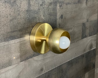 Mangata Modern Wall Sconce Single Bulb Light Orb Covers Mid Century Industrial Vanity Light