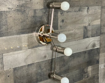 Fauve Modern Wall Sconce 4 Light Mid Century Industrial Vanity Light