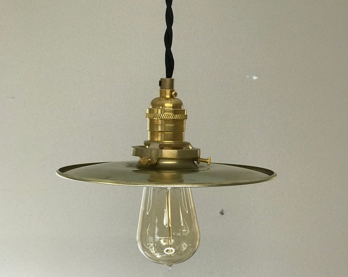 Bonheur Modern Gold Raw Brass Pendant 8In Shade Mid Century Industrial Kitchen Island Light