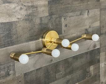 Majime 5 Bulb Modern Mid Century Wall Sconce Bathroom Vanity Hallway Light