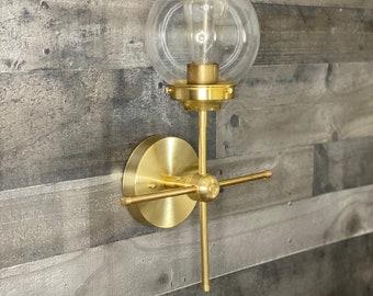 "Modern ""Her"" Wall Sconce Industrial Vanity Mid Century Bathroom Light"