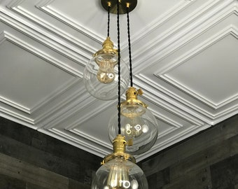 Rendon 6 Inch Clear Globes Hanging Pendant Light