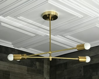 Ajax Modern 4 Bulb Chandelier Mid Century Hanging Ceiling Light
