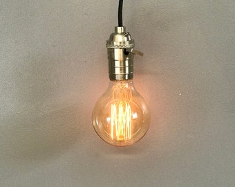 40W G80 Retro Vintage Edison Filament Incandescent Light Lamp Bulb 220V