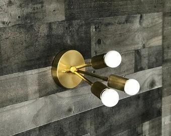 Athena Modern 3 Bulb Sputnik Mid Century Industrial Vanity Bathroom Light