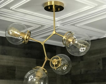 Lagertha 4 Light 6 Inch Globe Semi Flush Kitchen Living Room Multi Hanging Light