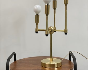 Sai Modern Table Lamp 4 Light Candelabra W/ Rotary Switch Mid Century Light