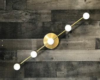 Koios Modern 5 Bulb Wall Sconce Mid Century Bathroom Hallway Vanity Light