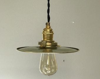 Bonheur Modern Gold Raw Brass Pendant 8In Shade Mid Century Industrial Kitchen Island Light