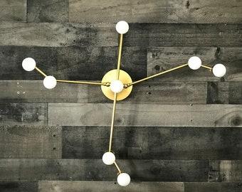 Aquila Constellation 8 Light Wall Sconce Modern Industrial Vanity Mid Century Bathroom Art Light
