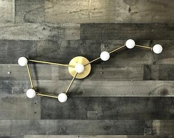 Big Dipper 7 Bulb Wall Sconce Modern Industrial Vanity Mid Century Bathroom Art Light