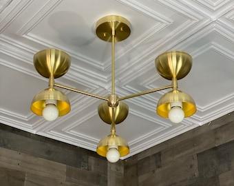 Cammy Modern Sputnik Chandelier 6 Light Mid Century Industrial Hanging Ceiling Light