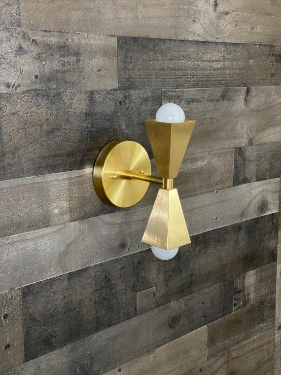 Merak Double Bulb Wall Sconce Modern Wall Lamp Art Light Etsy