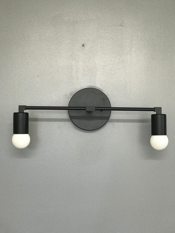 ornate lighting ornate matte black bulb bathroom lighting mid century modern contemporary vanity light