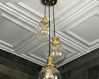 Rendon 6 Inch Clear Globe Hanging Pendant Light