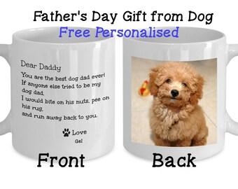 Father's Day Gift From Dog, Dog Dad Gift, Personalized Dog Photo Mug, Custom Photo Dog Mug, Coffee Mug for Dog Dad