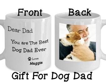 Dog Dad Gift, Father's Day Gift from Dog, Personalized Dog Photo Mug, Custom Photo Dog Mug, Coffee Mug for Dog Dad
