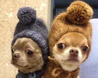 4518c604 Hat-helmet for dogs -- Dog hat -- Warm dog hat -- Knit dog hat -- Knitted dog  hat -- Yorkie hat -- Dog hat knit -- Pet hat