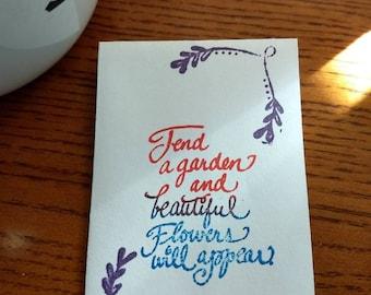 Hand made wedding favors! Flower seeds or bird seeds!