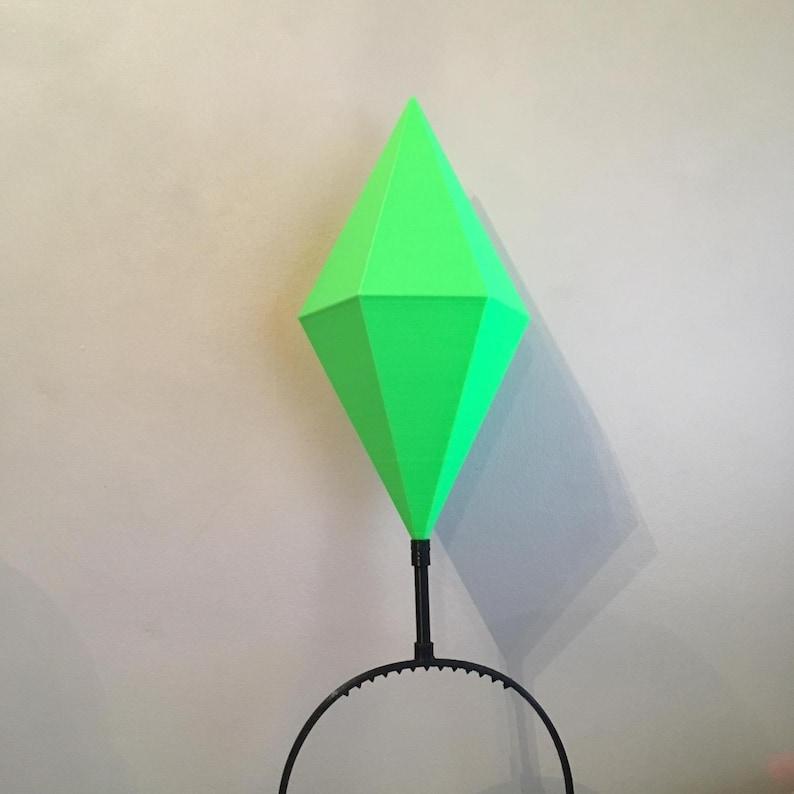 Sims HUGE Plumbob Headwear With LED / Mood Plum Bob Headband / Sim Costume  / Sims Cosplay / Maxis EA Games