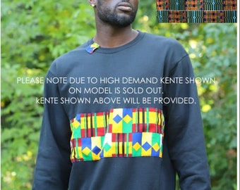 African Print/Kente Unisex Soft Warm Crewneck Sweater - Kofi Style