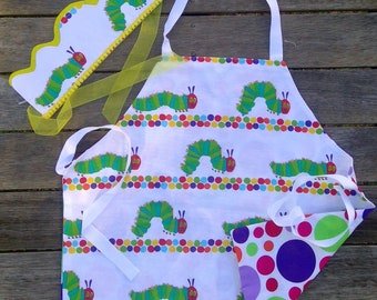 Hungry little Caterpillar Apron with Crown