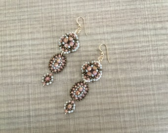 Raspberry Truffle dangle earrings