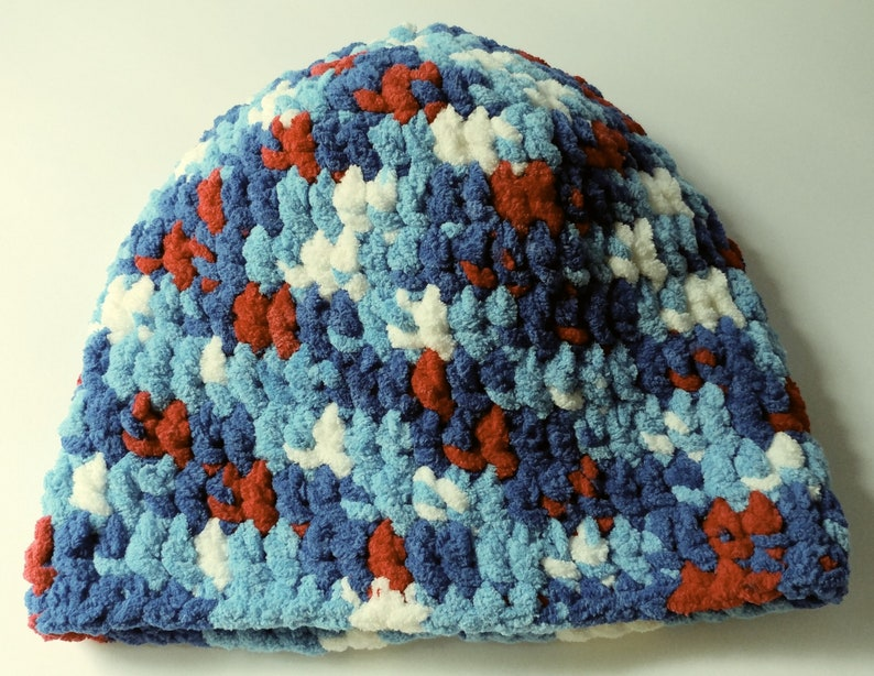adult Crochet Beanie Fuzzy Blanket Hat