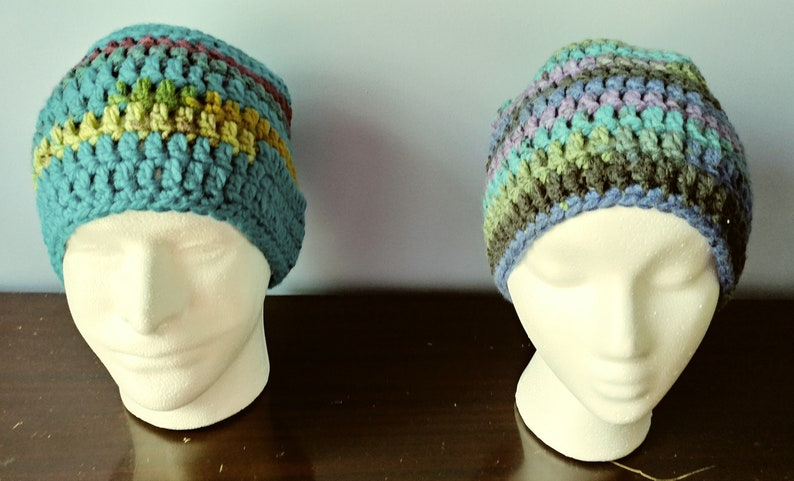 adult and various other colors Crochet Beanie Turquoise