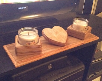 Candle Holder W/ Custom Message in Center Heart