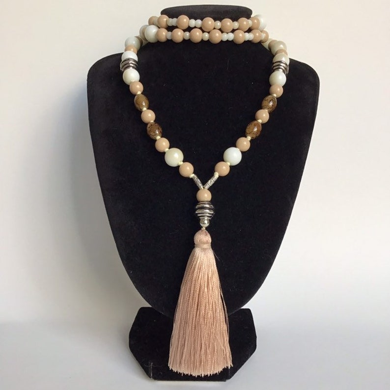 Beige And White Colours Stylish Bohemian Accessory