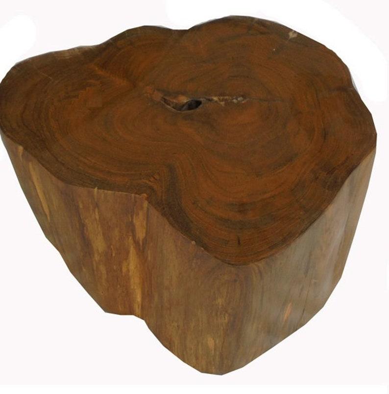 Attirant Teak Wood Table Base, Log Furniture, Reclaimed Stump