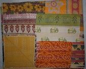 Vintage Kantha Quilt Handmade Throw Kantha Stitch Patchwork Queen Size Quilt Indian Quilts Handmade Bohemian Bedspread Blanket