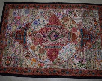 40 60 unieke patchwork muur opknoping vintage handgemaakte tapijt indiase gordijn 86