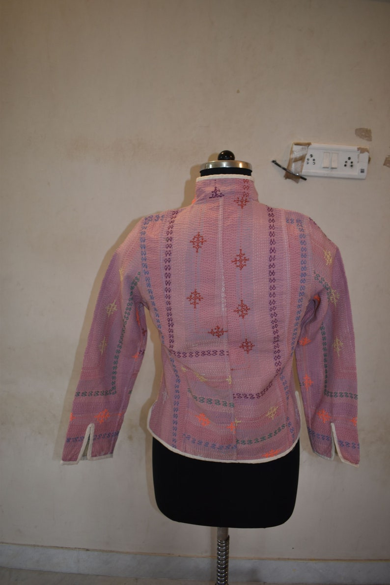 Vintage Handmade kantha Short Fashion Jacket Reversible Ralli Gudri Coat JK38