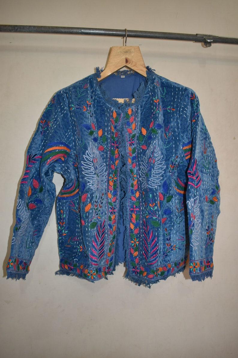 Women Fashion Handmade Embroidery Work Jacket Indian Hand Embroidered Banjara Jacket Gypsy Bohemian Women/'s Coat Antique Jacket