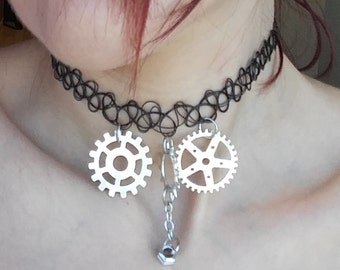 Steampunk choker necklace. Necklace.