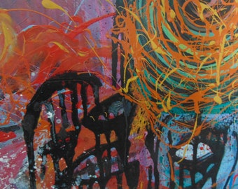 """Abstract style Painting """"Basquiat 27"""""""