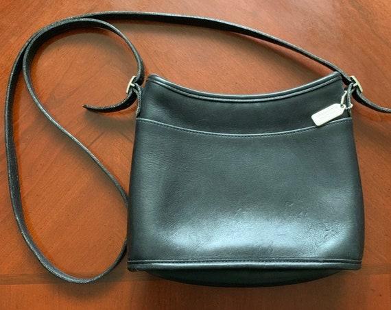 Vintage Coach Classic Small Black Genuine Leather Crossbody Purse