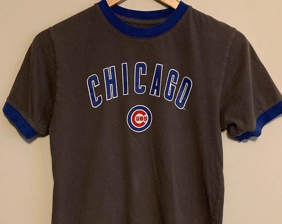Women's Chicago Cubs Baseball Ringer Tee M