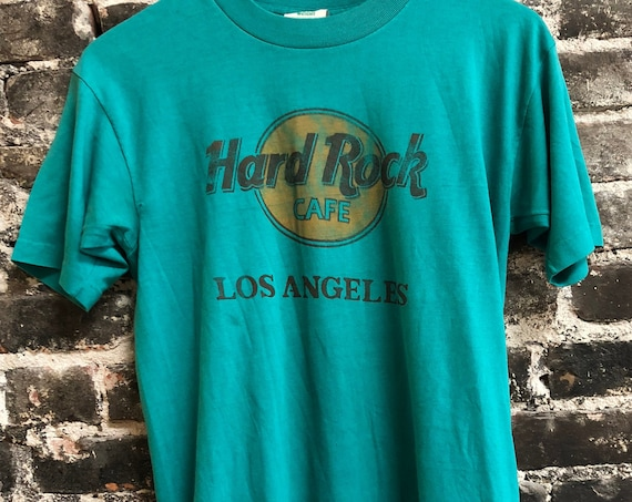 Vintage 80s Soft & thin Hard Rock Cafe Los Angeles T-Shirt Medium