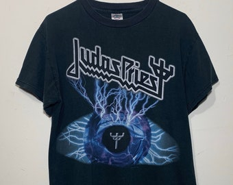 2004 Judas Priest United USA Tour Distressed Thrashed Metal Rock Tee Shirt M