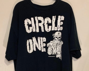 Vintage Circle One California Punk Hardcore Distressed T-Shirt  XXL