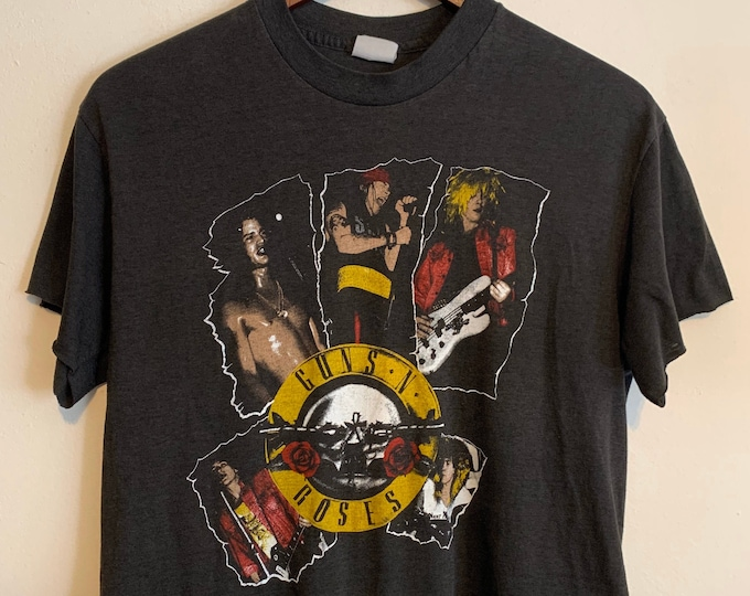 Featured listing image: 90s Vintage Women's Guns N' Roses Appetite for Destruction Cut Off  Super Thin T-Shirt S/M